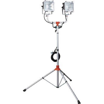 ハタヤ 防災用ハロゲンライトセット(防雨型) 500W×2灯100V接地付5m(1台) PHCX505KSN 4538625