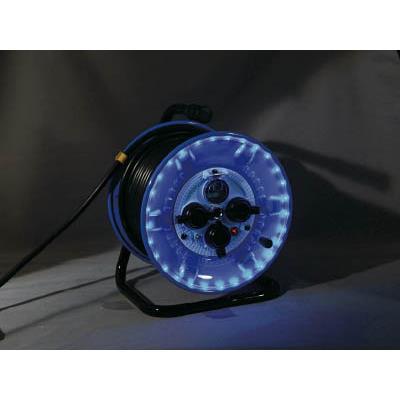 日動 防雨型電工ドラム LEDラインドラム 青(1台) NPWLEB33B 4866151
