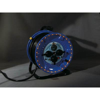 日動 防雨型電工ドラム LEDラインドラム 赤(1台) NPWLEK33R 4866223