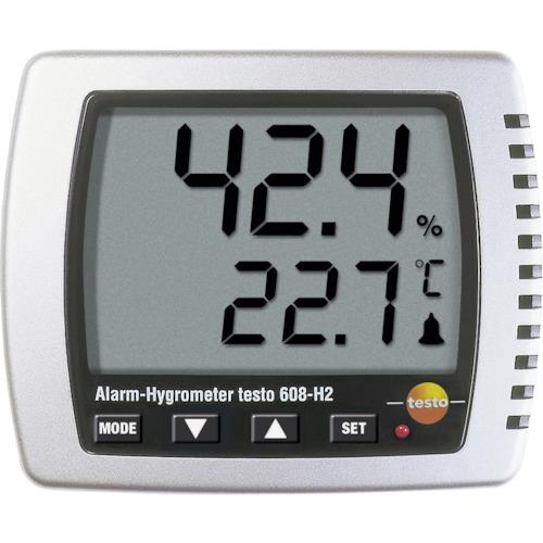 テストー 卓上式温湿度計(LEDアラーム付) TESTO608H2 7736886