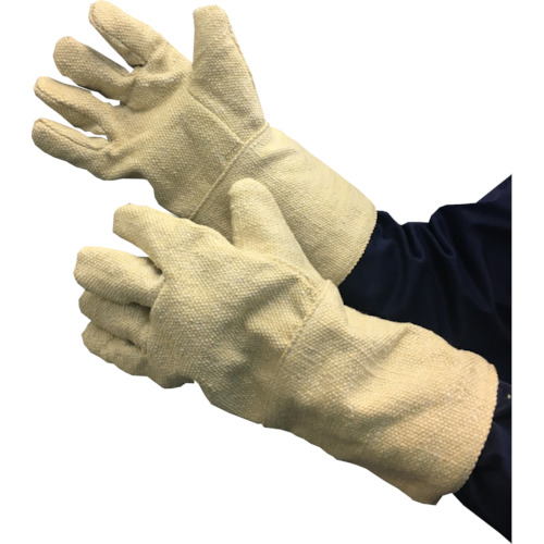 TRUSCO 生体溶解性セラミック耐熱手袋 5本指タイプ TCAT5A 8567497