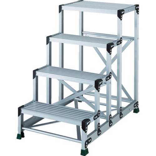 TRUSCO アルミ合金製作業台 4段 高さ1.00m 天板600×400 TSF4610 8557679