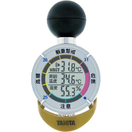 TANITA(タニタ):黒球式熱中症指数計 熱中アラーム 8594412 TT-562-GD