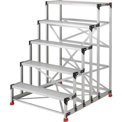 TRUSCO 作業用踏台 アルミ製・高強度タイプ 5段(1台) TSF51015 2621681