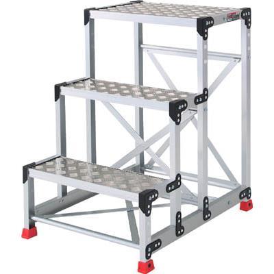 TRUSCO 作業用踏台 アルミ製・縞板タイプ 天板寸法600X400XH900(1台) TSFC369 3365140