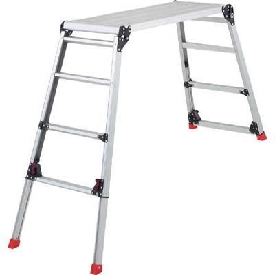 TRUSCO 足場台 アルミ製 脚部伸縮タイプ 高さ0.87~1.18m(1台) TDWG910 3524361