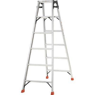 TRUSCO はしご兼用脚立 アルミ合金製・脚カバー付 高さ1.69m(1台) THK180 5123691