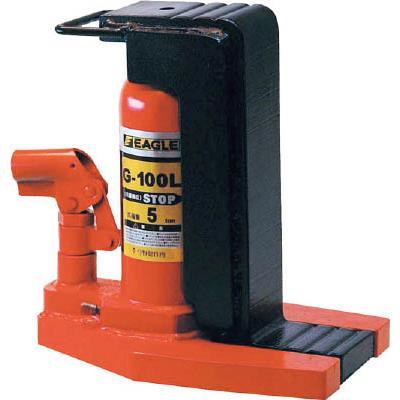 イーグル レバー回転・安全弁付爪つきジャッキ 爪能力5t 爪ロングタイプ(1台) G100L 3029328