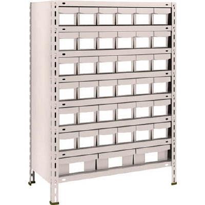 【代引不可】TRUSCO 軽量棚 875X450XH1200 樹脂引出NG 小X36 大X3(1台) 43X808E6F1 5105129