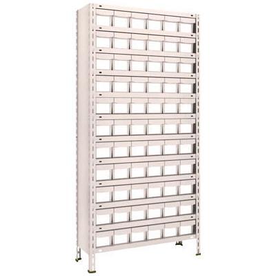 【代引不可】TRUSCO 軽量棚 875X300XH1800 樹脂引出NG 小X66(1台) 63V812E11 5105226