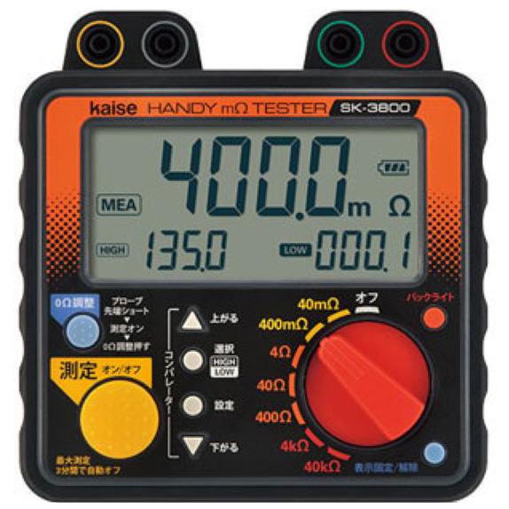 カイセ:ハンディミリオームテスター SK-3800