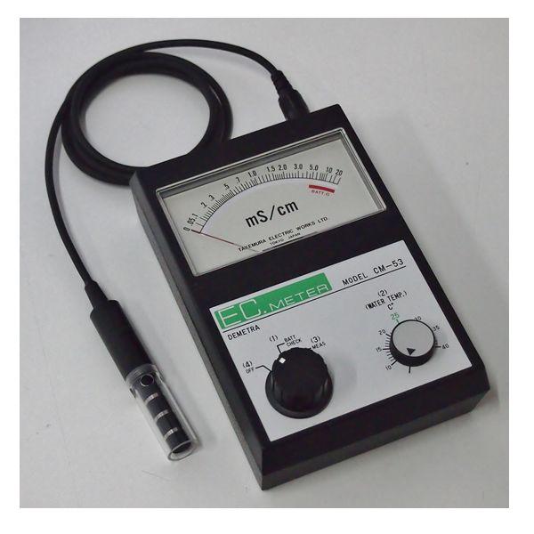 竹村電機製作所:ポータブル型アナログEC計 0~5mS指数目盛 土壌測定向き CM-53