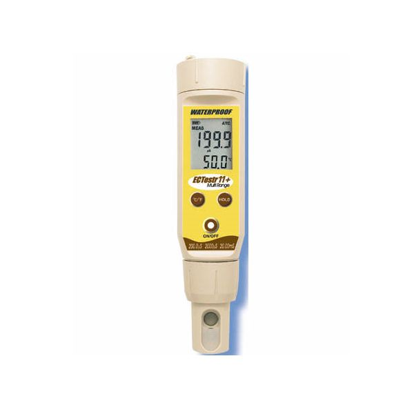 竹村電機製作所:ポケット型EC計 センサー交換可 3点校正 少量用カップ型 EC Testr 11+