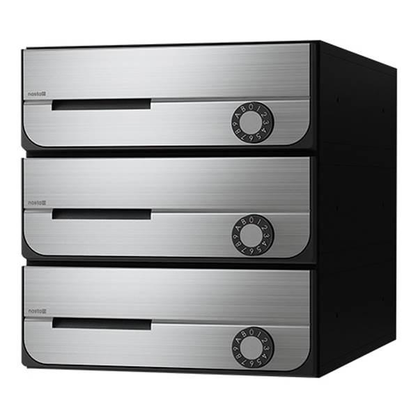 ナスタ:D-ALL 集合郵便受箱(防滴仕様)3戸用 前入前出 KS-MB5202PU-3L-S