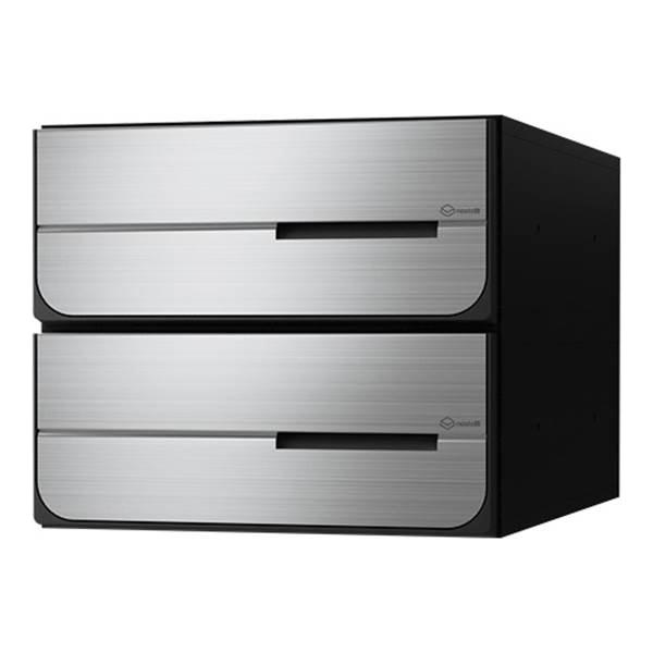 ナスタ:D-ALL 大型郵便物対応集合郵便受箱(屋内仕様)2戸用 前入後出 KS-MB6102PY-2L-S