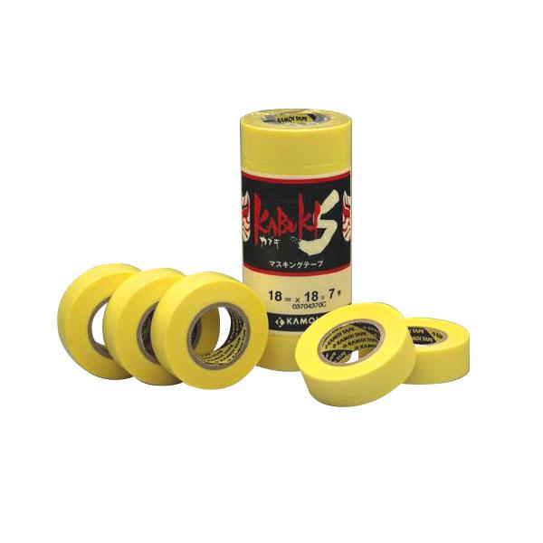 カモ井加工紙:車両塗装用マスキングテープ カブキS 18mm×18m 大箱(700個セット)