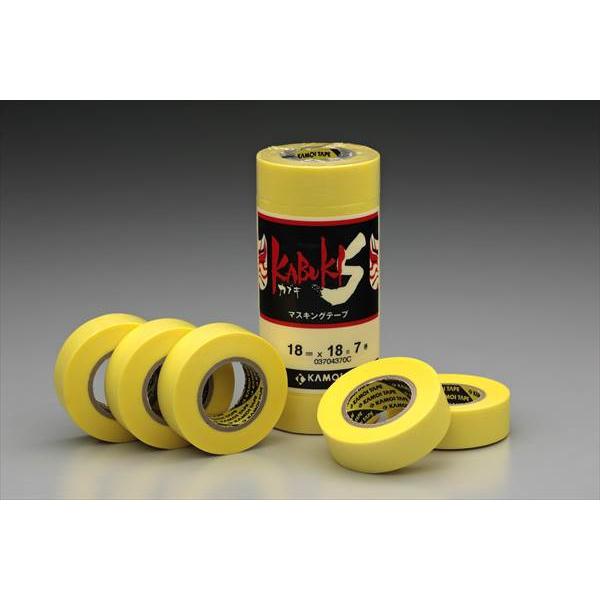 カモ井加工紙:車両塗装用マスキングテープ カブキS 21mm×18m 大箱(600個セット)