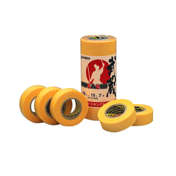 カモ井加工紙:車両塗装用マスキングテープ 武蔵 20mm×18m 大箱(600個セット)