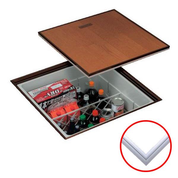 サヌキ:SPG  ノックダウン式浅型床下収納庫 シルバー 606角 FS606S