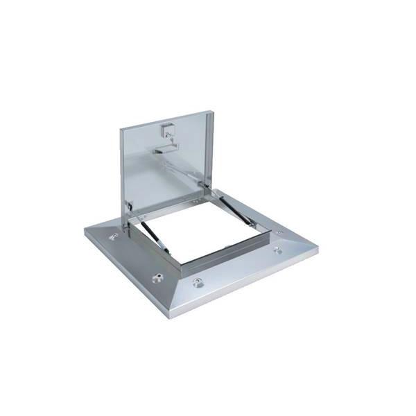 サヌキ:SPG 鍵付らくらくハッチ 鍵付ロック式多段ステー 1000角 ブラケットありタイプ OMK-61601BK