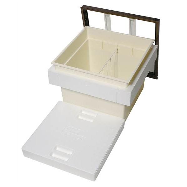 【代引不可】吉川化成:断熱床下収納庫 600型 深型 アルミブロンズ枠 樹脂コーナーパーツ仕様 6DBJ