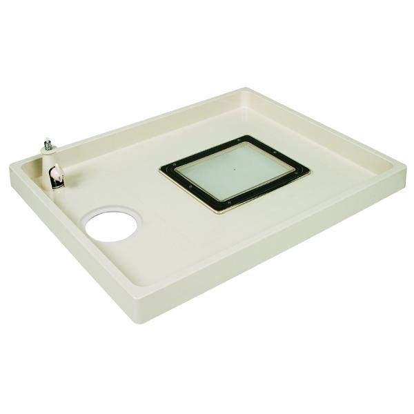 テクノテック:点検口・給水栓付防水パン コックタッチエンデバー アイボリーホワイト TSC-800L