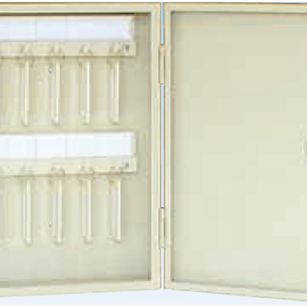タチバナ製作所:キーボックス Cタイプ携帯・壁掛兼用式 100本掛 アイボリー Ci-100