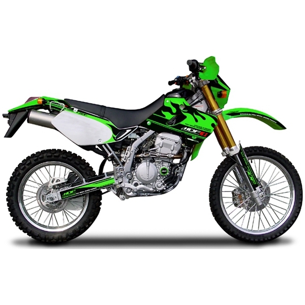 【後払い不可】【代引不可】MDF(エムディーエフ) :グラフィックキット オフロード ファイアロードモデル [カワサキ] KLX250 (-04) シュラウドセットグリーン MKLX2-B-GR-SH