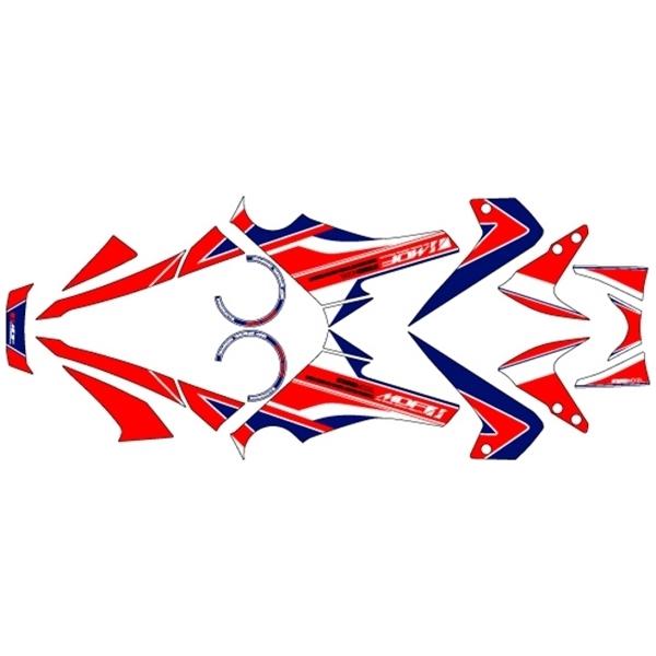 【代引不可】MDF(エムディーエフ) :グラフィックキット オンロード アタッカーモデル [ホンダ] GROM (13-) 車体色ホワイト用コンプリートセット トリコロール MGROM-G-TR-ALL