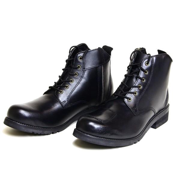 【代引不可】WILD WING(ワイルドウイング):ライディングブーツ [スワロー] ショートブーツタイプ ブラック 25.0cm WWM-0003-25B