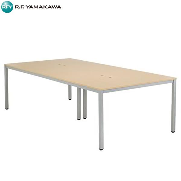【代引不可】アール・エフ・ヤマカワ:OAミーティングテーブルW2400 ナチュラル ATN-2412N-AF2