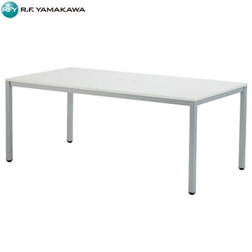 【法人限定】アール・エフ・ヤマカワ:OAミーティングテーブルW1800 ホワイト ATW-1890TL
