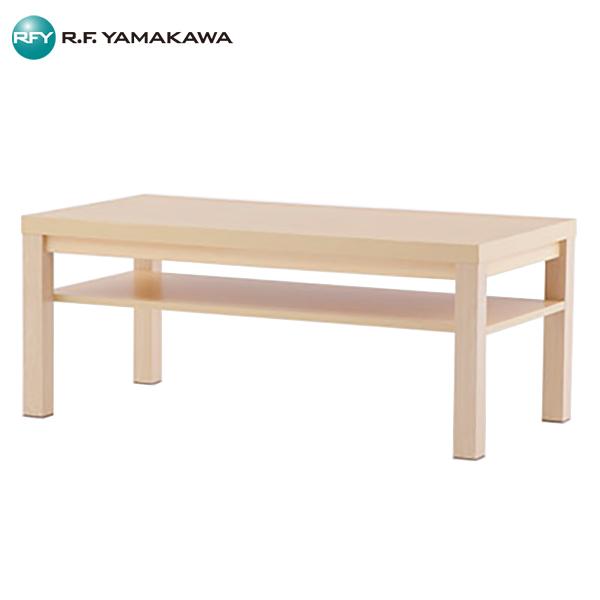 【代引不可】アール・エフ・ヤマカワ:応接センターテーブル ワイド棚付 W1100xD550 ナチュラル RFCFT-1155NA