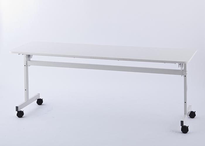 【代引不可】アール・エフ・ヤマカワ:シンプルフォールディングテーブル2W1800xD600 ホワイト RFFT2-1860WH