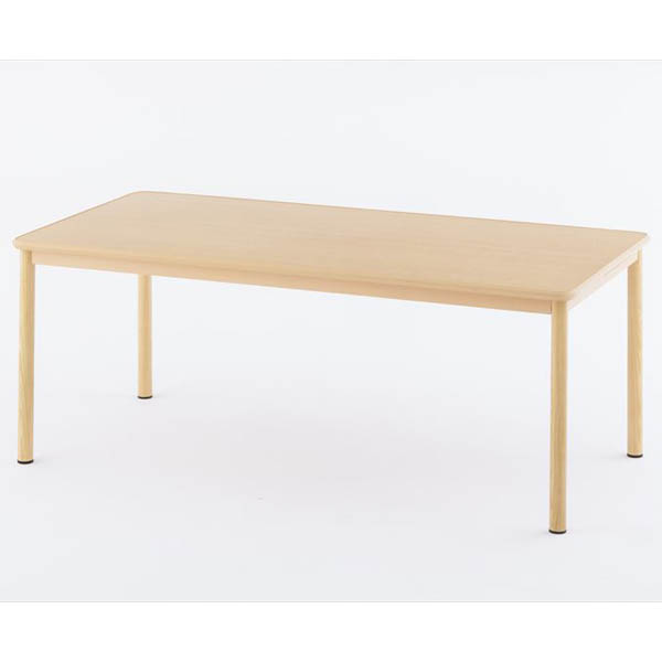 【代引不可】アール・エフ・ヤマカワ:介護用テーブルW1800×D900 ナチュラル RFKTB-1890NA