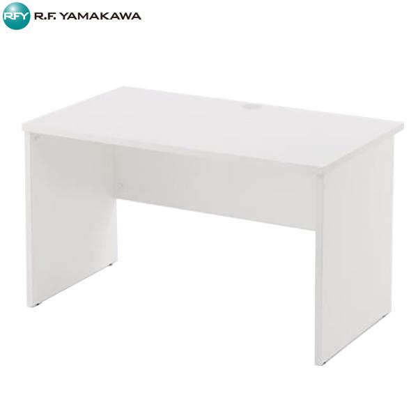 【法人限定】アール・エフ・ヤマカワ:レーニョ 木製デスク2 W1200xD700 ホワイト RFLD-1270WJ2