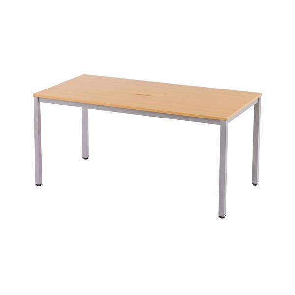 【代引不可】アール・エフ・ヤマカワ:配線ボックス付ミーティングテーブル W1500 ナチュラル RFMTB-1575NNTL