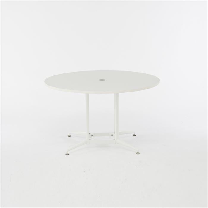 【代引不可】アール・エフ・ヤマカワ:OAラウンドテーブル Φ1200 ホワイト RFRDT-OA1200WL