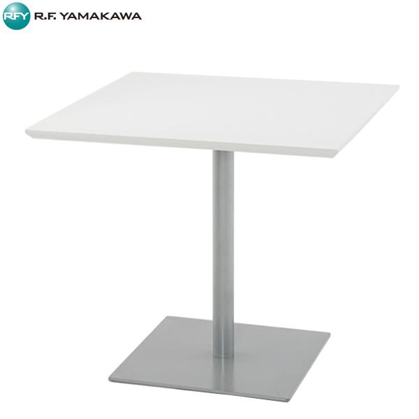 【代引不可】アール・エフ・ヤマカワ:リフレッシュテーブル スクエア W800xD800 ホワイト RFRT-800SW