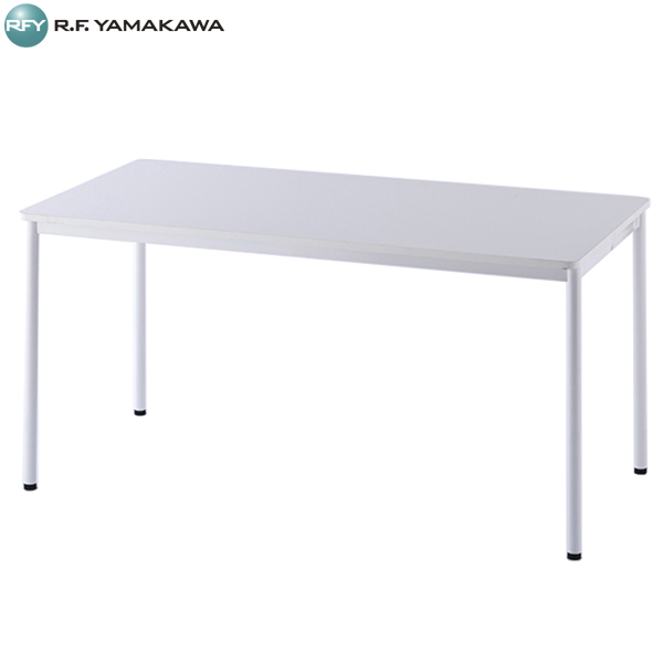【代引不可】アール・エフ・ヤマカワ:RFシンプルテーブル W1400xD700 ホワイト RFSPT-1470WH