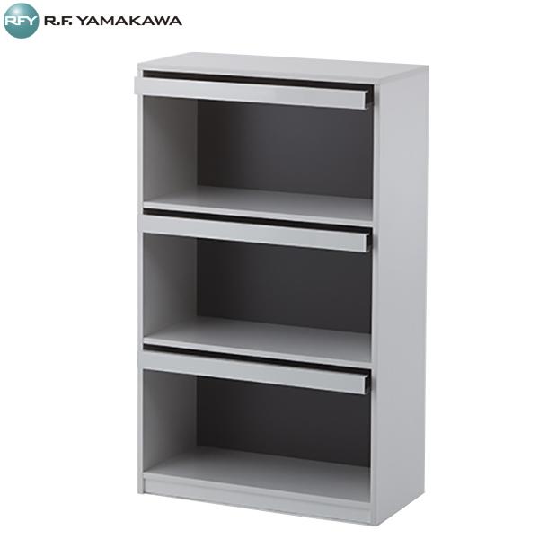 【法人限定】アール・エフ・ヤマカワ:木製ディスプレイラック3段 幅800グレー SHFLP-8013WGY
