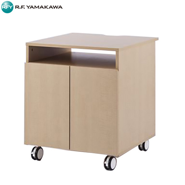 【法人限定】アール・エフ・ヤマカワ:木製プリンタワゴン W600xD600 ナチュラル SHPD-6060NA