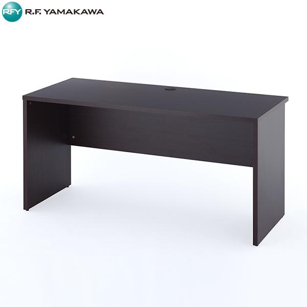 【法人限定】アール・エフ・ヤマカワ:ノルム 木製デスク2 W1400xD600 ダーク Z-RFPLD-1460DB2