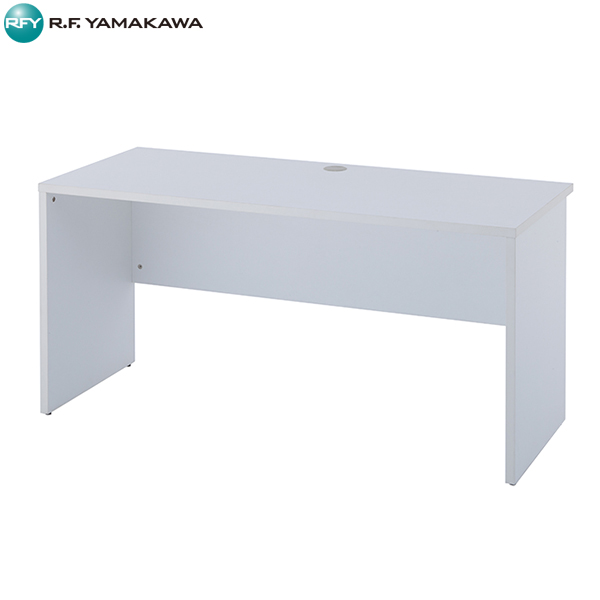 【法人限定】アール・エフ・ヤマカワ:ノルム 木製デスク2 W1400xD600 ホワイト Z-RFPLD-1460W2
