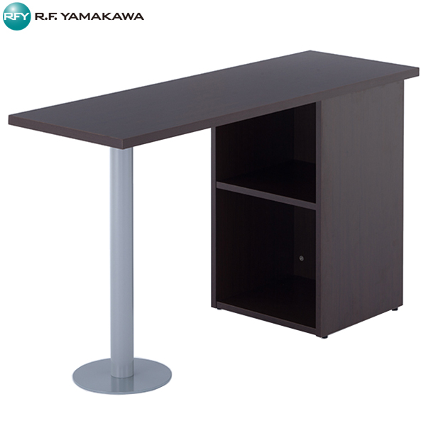 【法人限定】アール・エフ・ヤマカワ:ノルム サイドテーブル W1200xD400 ダーク Z-RFST-1240DB