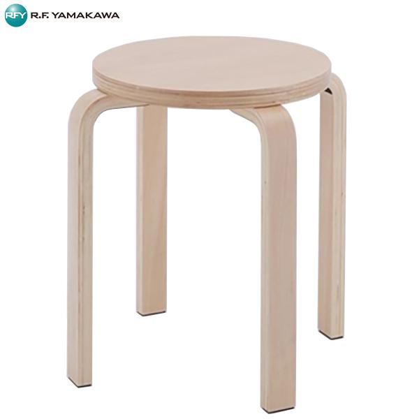 【法人限定】アール・エフ・ヤマカワ:[SET]木製丸椅子 ナチュラル 4脚SET Z-SHSC-1-4SET