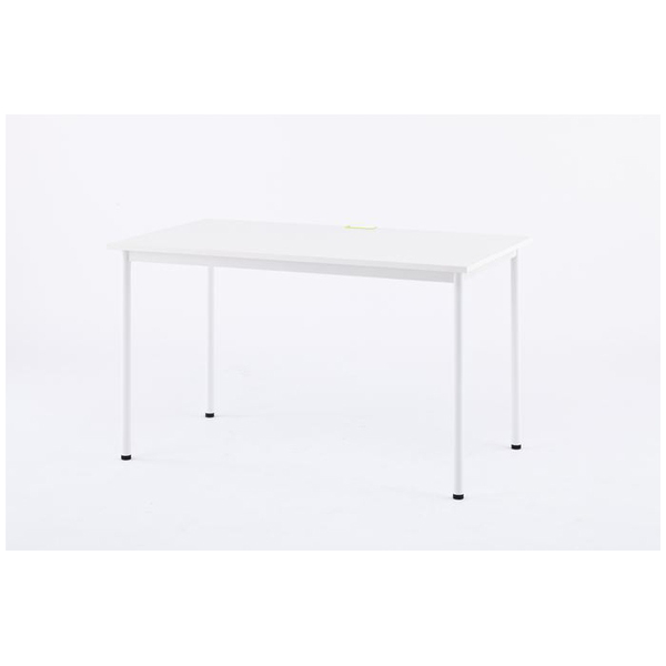【法人限定】アール・エフ・ヤマカワ:SHシンプルテーブル W1200xD700 ホワイト/GN&OR&WHキャップ付 Z-SHST-1270WHW