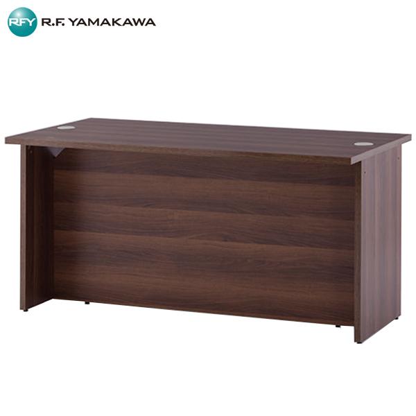 【代引不可】アール・エフ・ヤマカワ:ローカウンター W1400xD750 ウォルナット RFLC2-1475DM