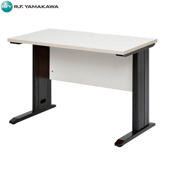 【法人限定】アール・エフ・ヤマカワ:スチール脚デスク W1000 ホワイト ブラック脚 RFSLD-1060WH-BL