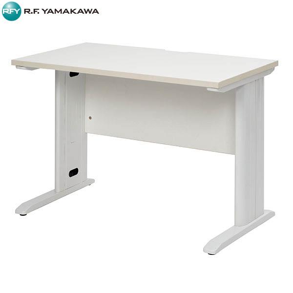 【法人限定】アール・エフ・ヤマカワ:スチール脚デスク W1000 ホワイト ホワイト脚 RFSLD-1060WH-WL